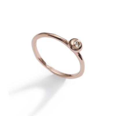 Diamond Rose Bubble ring
