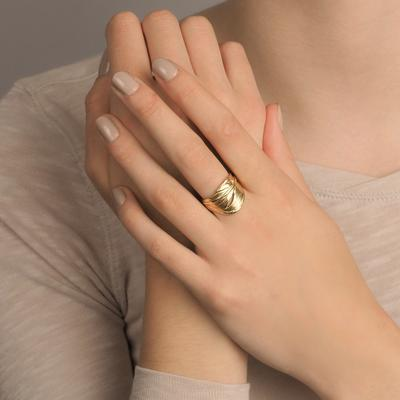 Swan Feather ring
