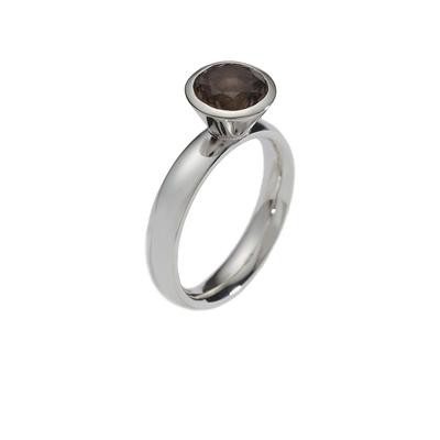 Sim smoky quartz ring