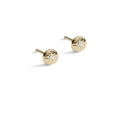 Light my way diamond gold studs