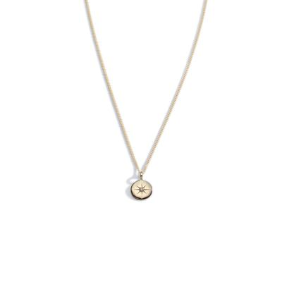 Light my way diamond gold pendant