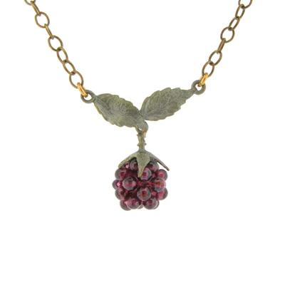 Single Raspberry necklace
