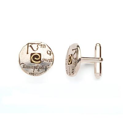 Celtic Script cufflinks